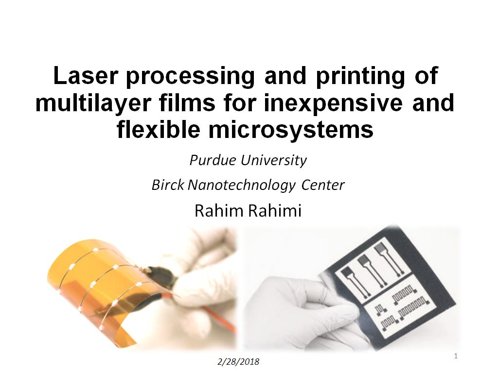 Resources Laser Processing And Printing Of Multilayer Home Images Circuits Facebook Twitter Google Films For Inexpensive Flexible Microsystems