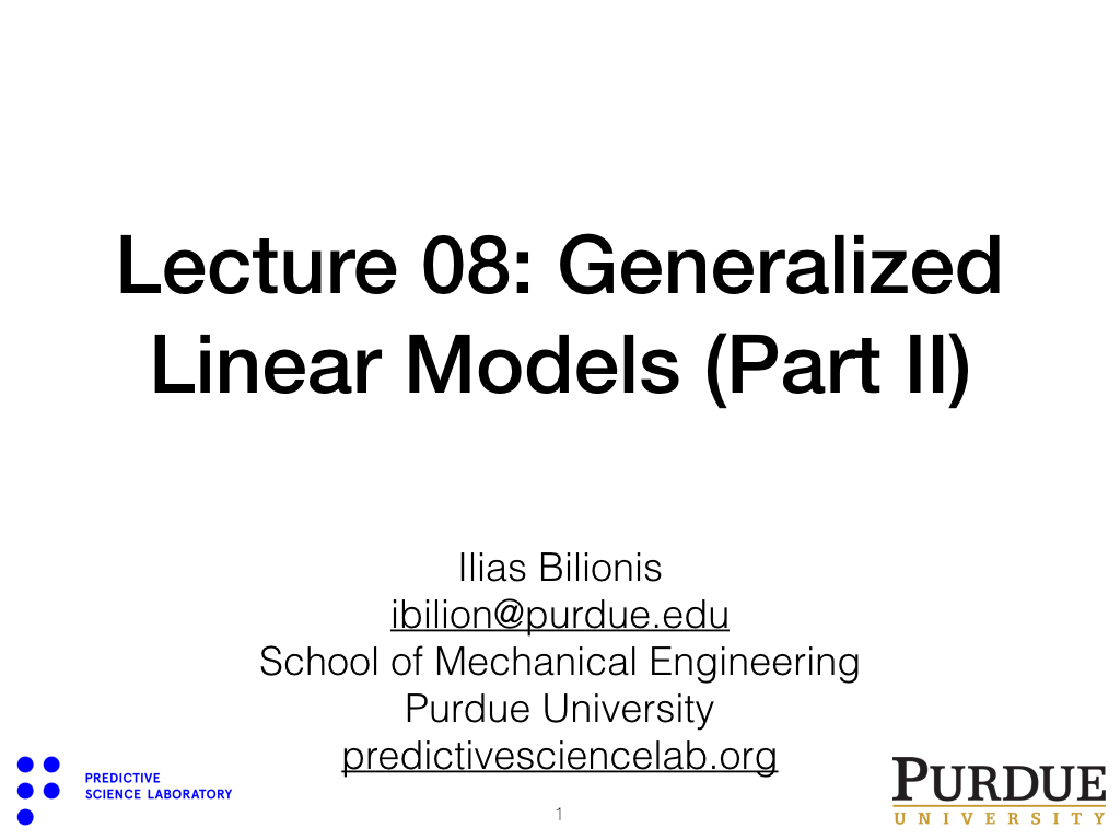 nanoHUB org - Resources: ME 597UQ Lecture 08: Generalized