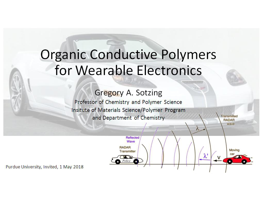 Organic Conductive Polymers for Wearable Electronics