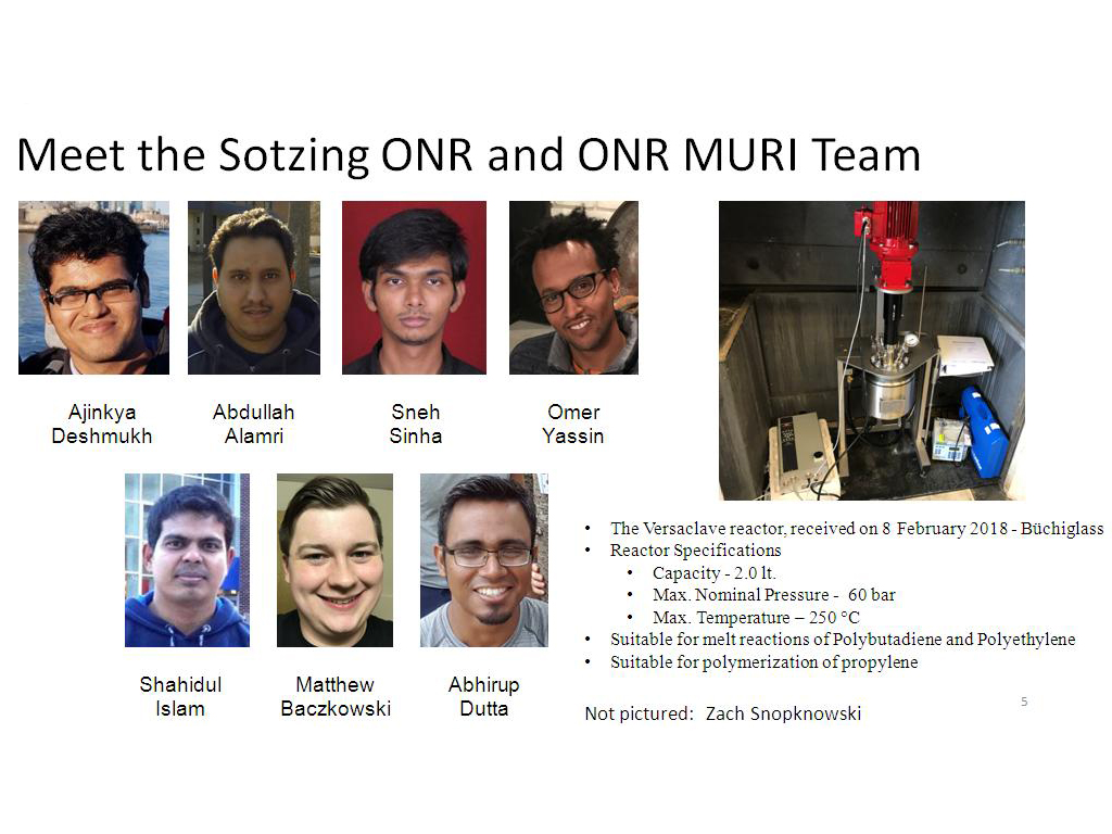 Meet the Sotzing ONR and ONR MURI Team