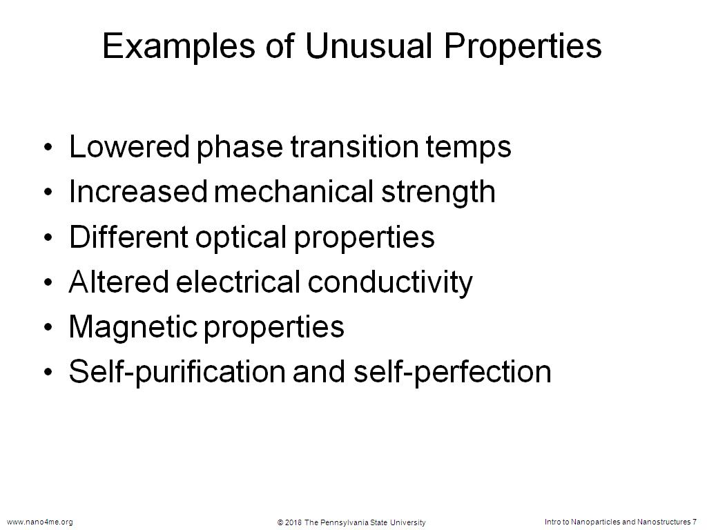 Examples of Unusual Properties