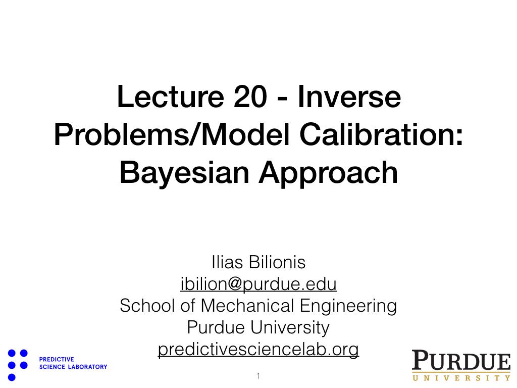 nanoHUB org - Resources: ME 597UQ Lecture 20: Inverse