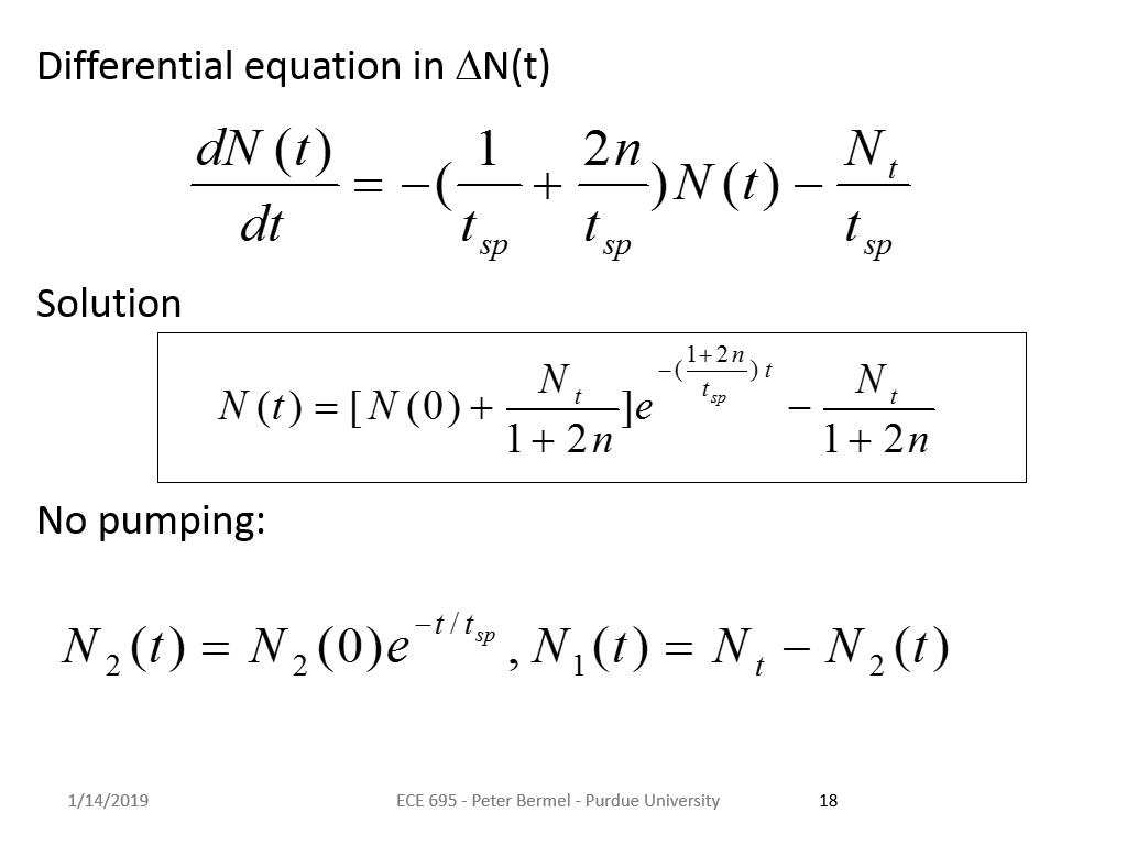 Differential equation in DN(t)