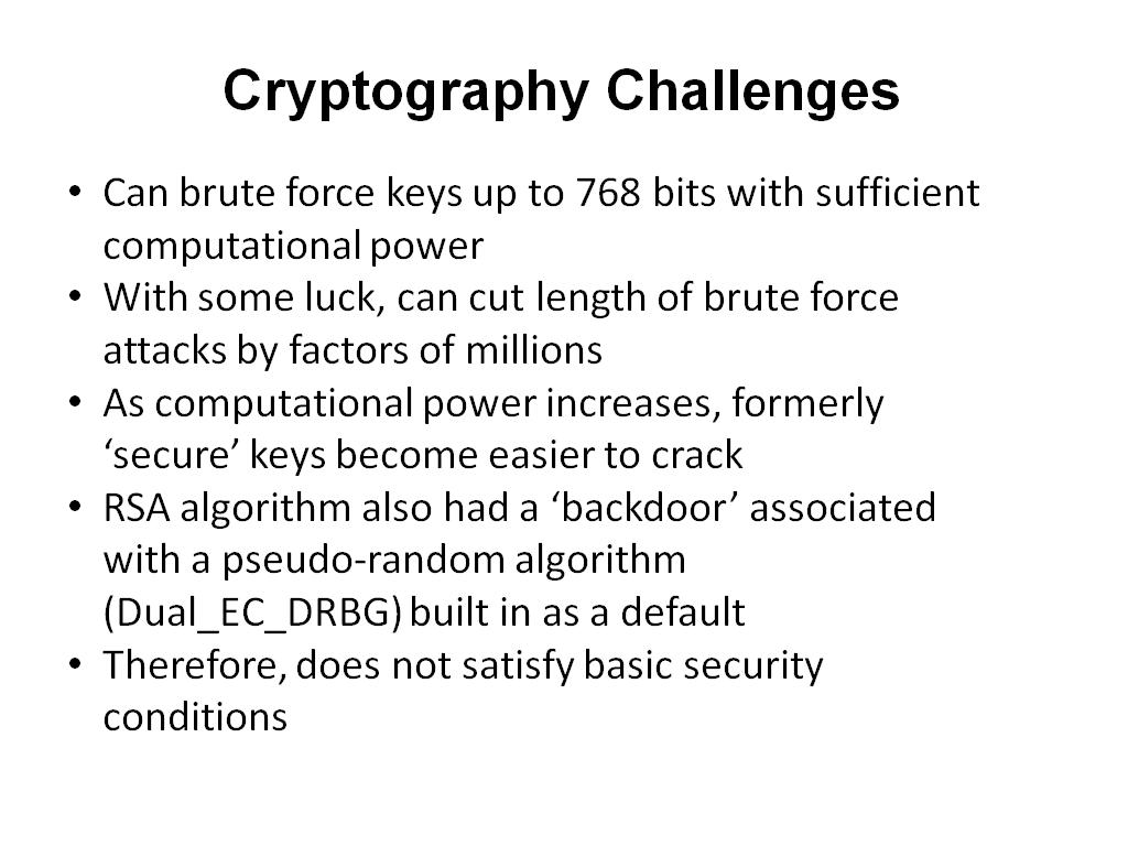 Cryptography Challenges