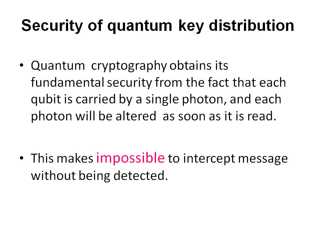 Security of quantum key distribution