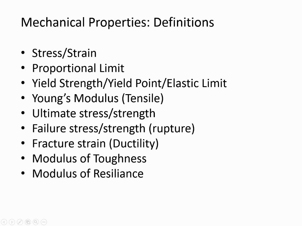 Mechanical Properties: Definitions