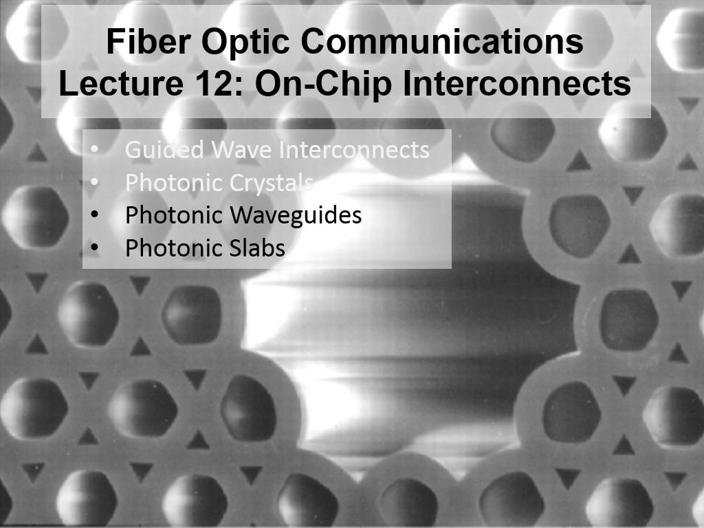 Lecture 12C: On-Chip Interconnects