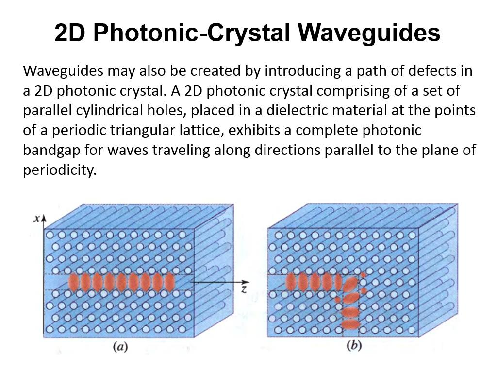 2D Photonic-Crystal Waveguides