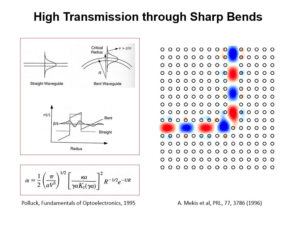 High Transmission through Sharp Bends
