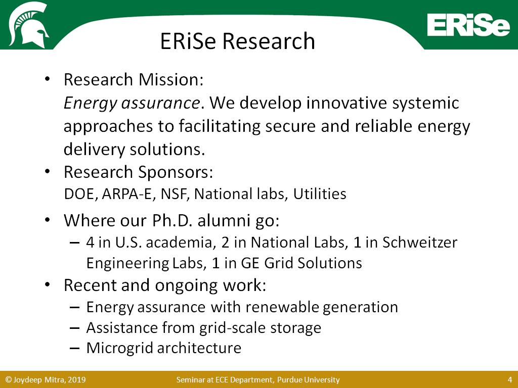 ERiSe Research