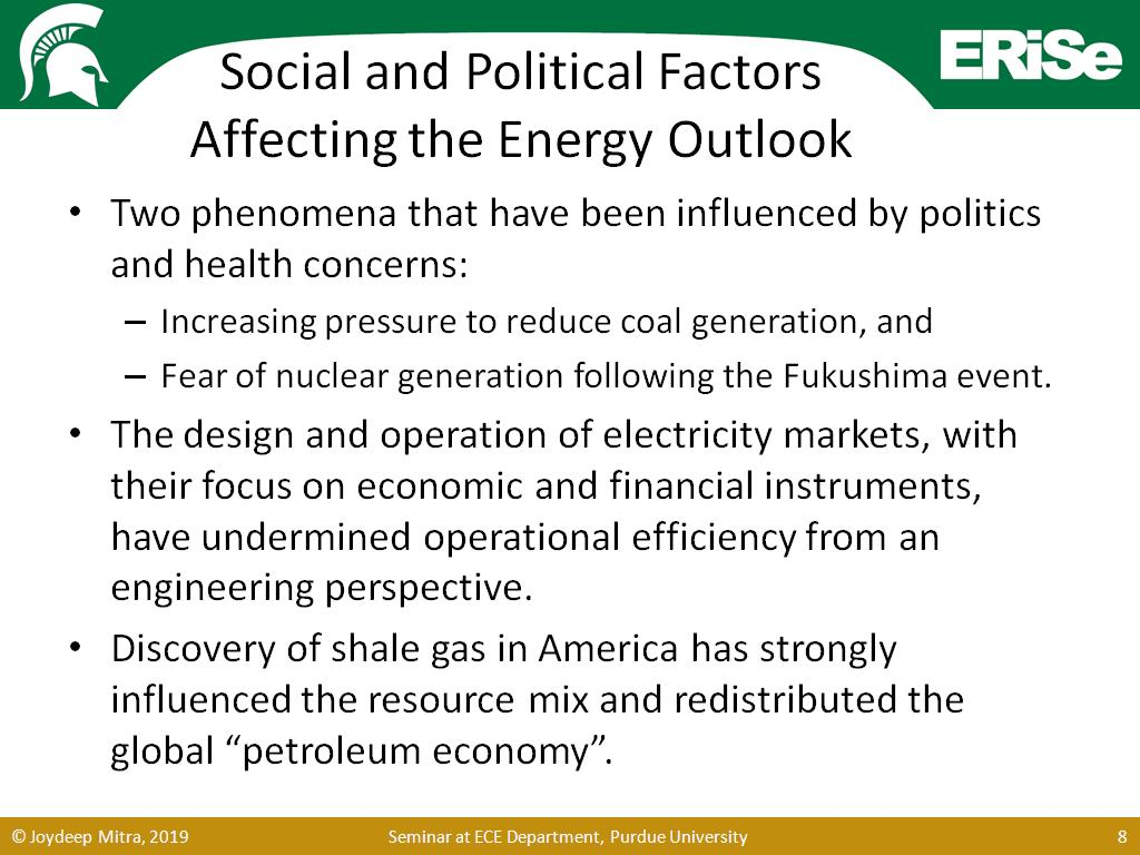 Social and Political Factors Affecting the Energy Outlook