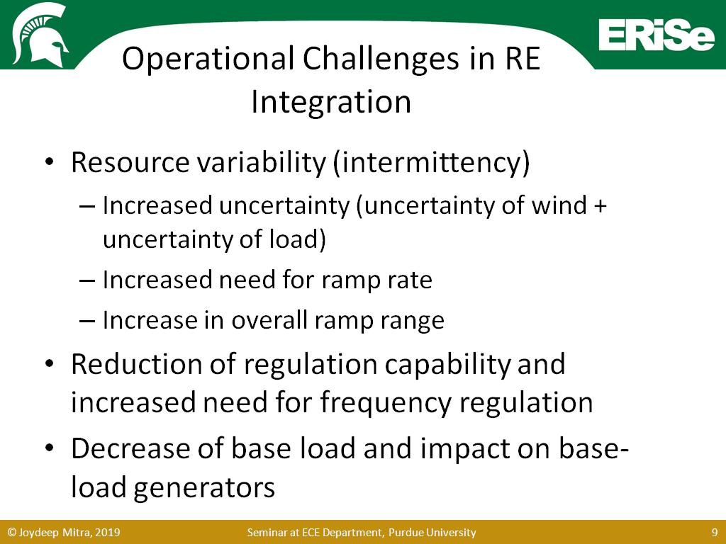 Operational Challenges in RE Integration