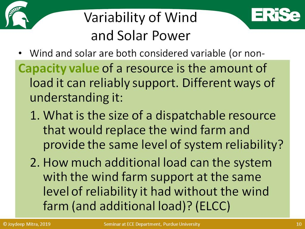 Variability of Wind and Solar Power