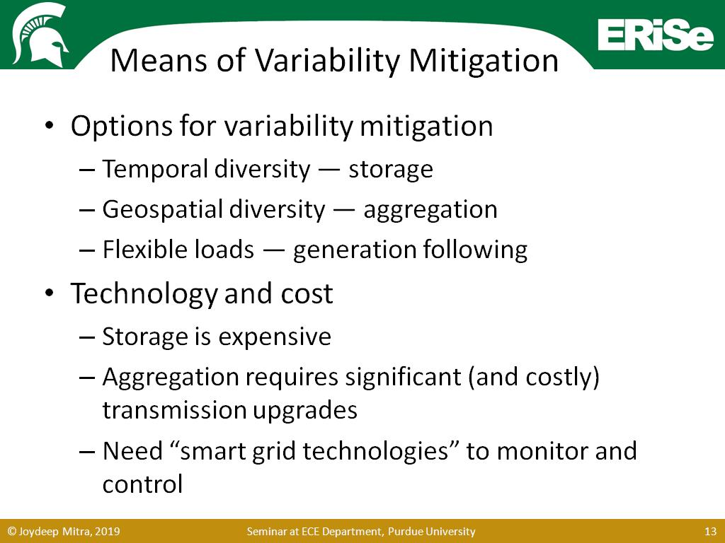 Means of Variability Mitigation