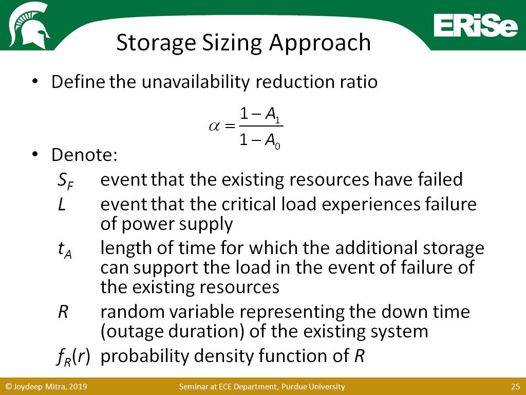 Storage Sizing Approach