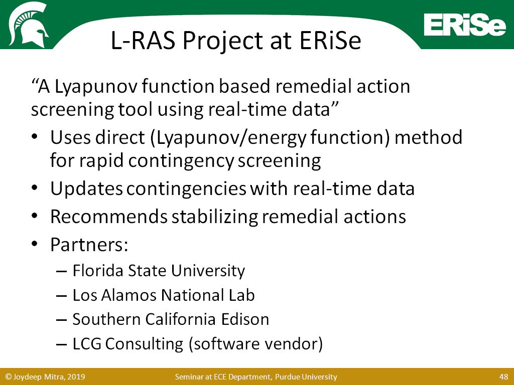 L-RAS Project at ERiSe