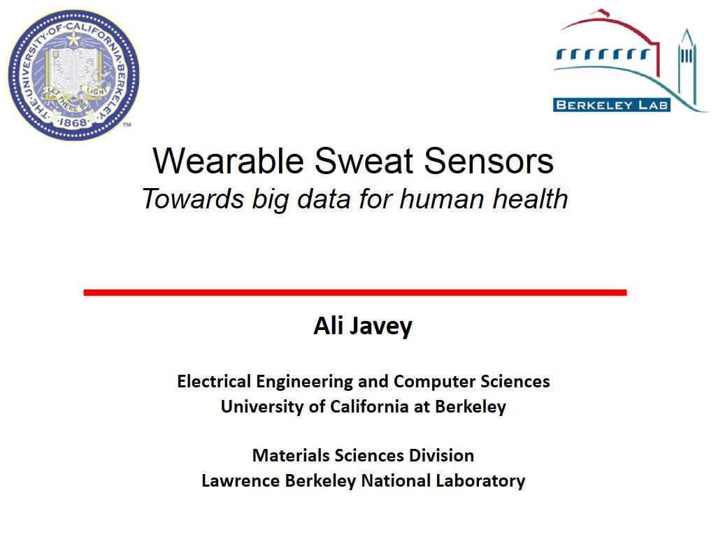 Wearable Sweat Sensors Towards big data for human health