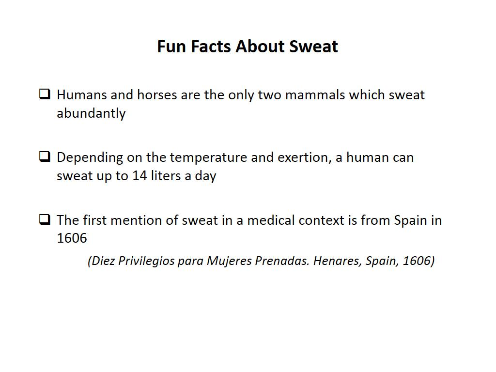 Fun Facts About Sweat
