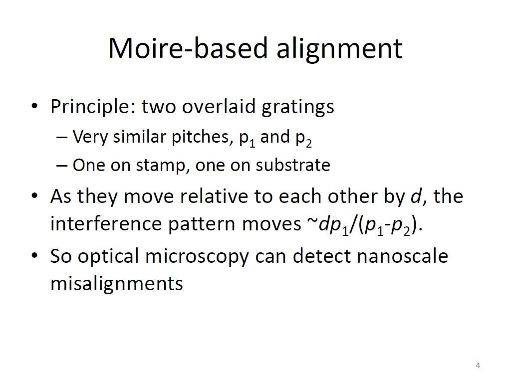 Moire-based alignment