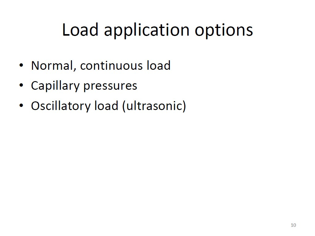 Load application options