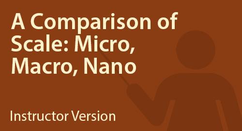 A Comparison of Scale: Micro, Macro, Nano - Instructor Resource