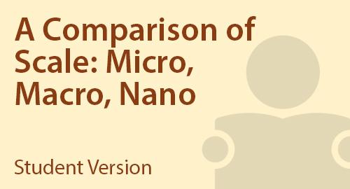 A Comparison of Scale: Micro, Macro, Nano - Student Resource