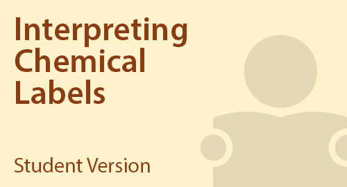 Interpreting Chemical Labels - Student Resource