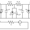 electrical and thermal equivalent circuit for a single TE segment