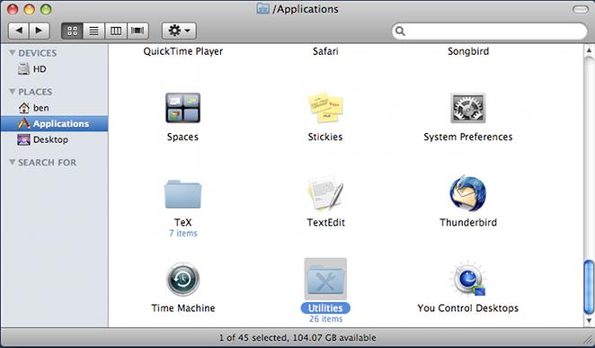 mac run application from terminal